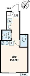 都営三田線 千石駅 徒歩2分の賃貸アパート 1階ワンルームの間取り