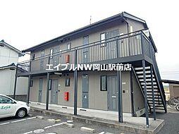 岡山県岡山市北区平野丁目なしの賃貸アパートの外観