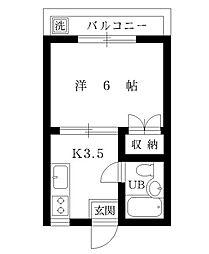 第3青山マンション[2階]の間取り