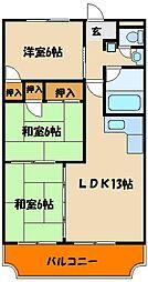 エスポワール貴崎[1階]の間取り