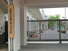 日野市立日野第一中学校まで1977m