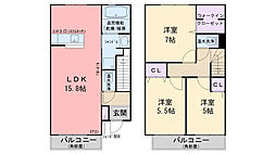 D-room小田部 参番館[102号室]の間取り