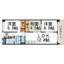 ドミール武庫川[1階]の間取り