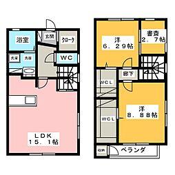 [テラスハウス] 愛知県名古屋市昭和区川名町4丁目 の賃貸【/】の間取り