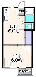 コーポ緑[3階]の間取り