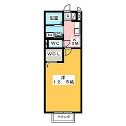 セジュール可児[1階]の間取り