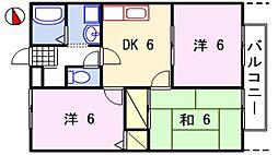 ルミエール飾磨2[105号室]の間取り