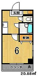 Casa Felice[406号室]の間取り