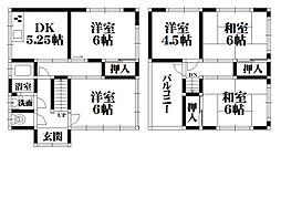 [一戸建] 大阪府羽曳野市高鷲6丁目 の賃貸【/】の間取り