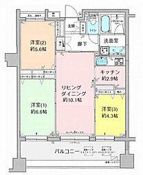 クリオ八王子横山町[2階]の間取り
