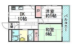 シャンティJKK3[5階]の間取り