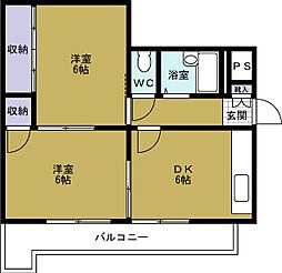 マンション・リラ[5階]の間取り