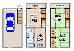 [一戸建] 大阪府東大阪市西堤本通西3丁目 の賃貸【/】の間取り