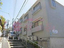 東京都目黒区上目黒2丁目の賃貸アパートの外観
