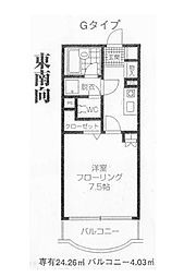 東京都中野区上鷺宮2丁目の賃貸マンションの間取り