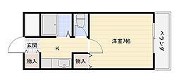 マンションタカトミ[3階]の間取り
