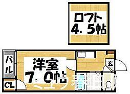 福岡県春日市桜ヶ丘2丁目の賃貸アパートの間取り