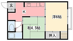 阪神マンション[301号室]の間取り