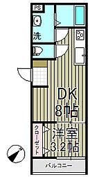 トワーニ北鎌倉[3F号室]の間取り