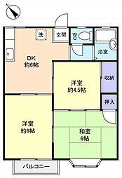 シャイニング勝田台[2階]の間取り