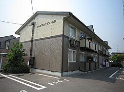 愛媛県松山市北梅本町の賃貸アパートの外観