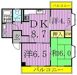 ロイヤルセピアI・II[1-102号室]の間取り