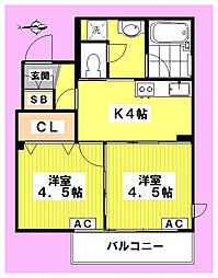 ウインサム高円寺[102号室]の間取り
