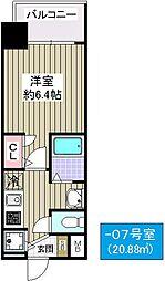 プレミアムコート大正フロント[907号室]の間取り