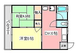 須賀ハイツ[2階]の間取り