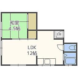 中岡荘[1階]の間取り
