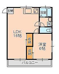 ラ・フォンテ松戸[4階]の間取り