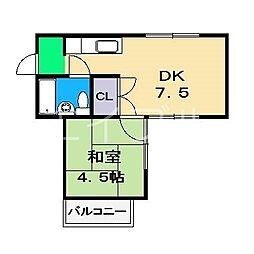 ハイツヤマサキ[2階]の間取り