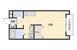 大阪府大阪市平野区加美北2丁目の賃貸アパートの間取り