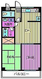 大黒屋レジデンス[4階]の間取り
