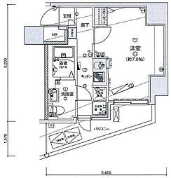 リヴシティ王子神谷[7階]の間取り