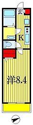LIVLI・リッツハウス藤崎 3階1Kの間取り