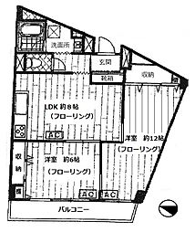 ストーク新宿[5階]の間取り