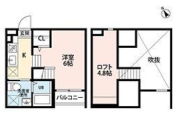 アーク3[2階]の間取り