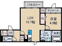 仮称)D-room上穂積[2階]の間取り