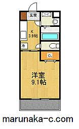 Hermitage・Y(エルミタージュ・ワイ)[205号室]の間取り