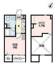 tu-ki(ツキ)[2階]の間取り