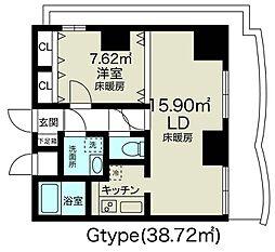 ノルデンタワー新大阪アネックス[11階]の間取り