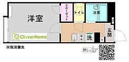 JR相模線 下溝駅 徒歩9分の賃貸アパート 2階1Kの間取り