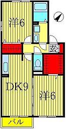 クレストパーク D[2階]の間取り