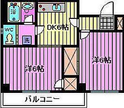 埼玉県さいたま市浦和区元町3丁目の賃貸マンションの間取り
