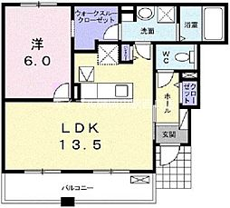 岡山県岡山市中区高島新屋敷丁目なしの賃貸アパートの間取り
