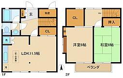 [タウンハウス] 東京都町田市南成瀬6丁目 の賃貸【/】の間取り