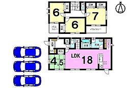 土地面積51.84坪。駐車3台可能です。モデルルームもございますのでお気軽にお問合せ下さい。