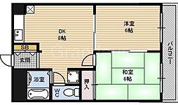 ロジュマン鶴見[3階]の間取り