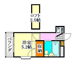 クレスト津田沼第01[203号室]の間取り